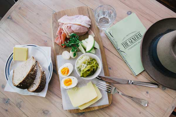 Ploughman's lunch with menu